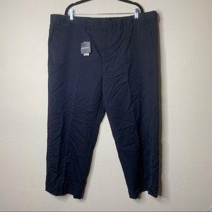 Eddie Bauer Fit Flat Front Wool Gabardine Trousers